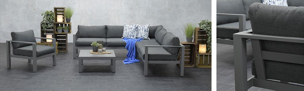 Een aluminium loungeset heeft geen onderhoud nodig